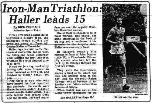 Gordon Haller el primer ganador de la historia del triatlon ironman de hawaii