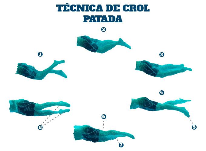 Técnica de Crol en Triatlón: la patada
