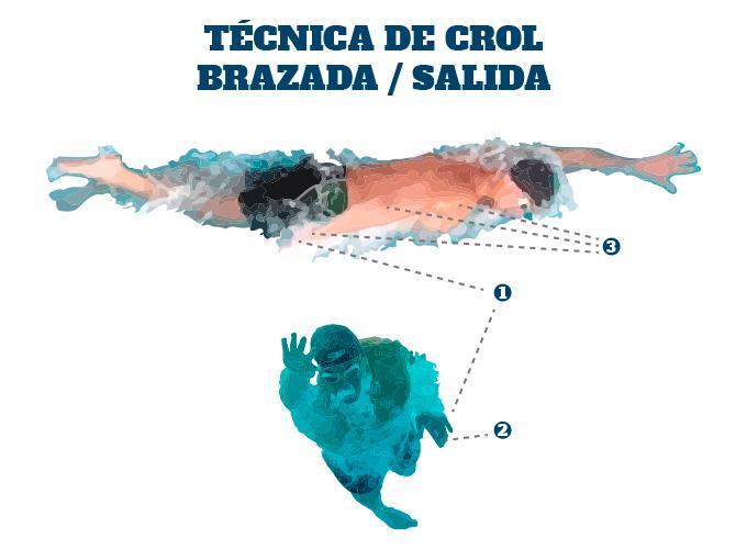 Técnica de Crol en Triatlón: la salida de la brazada