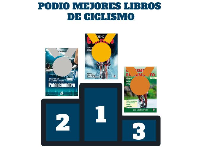 mejores libros de entrenamiento de ciclismo podio final con los 3 mejores