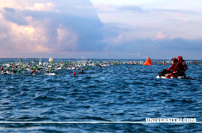 la natación en aguas abiertas en mares