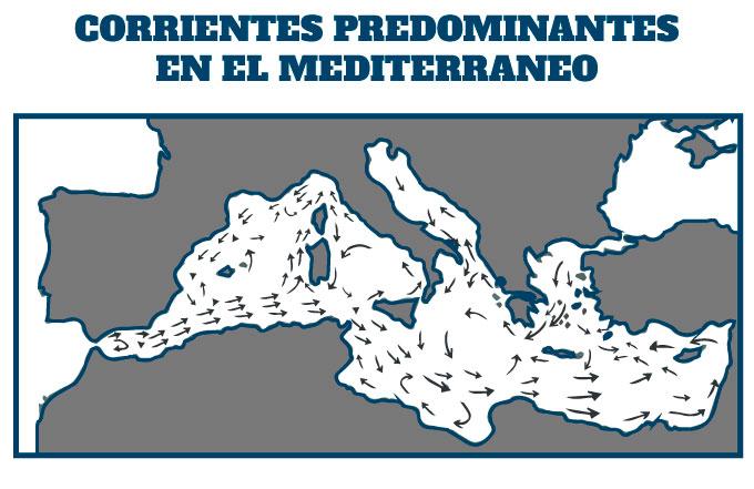 las corrientes del mediterraneo en la natación en aguas abiertas